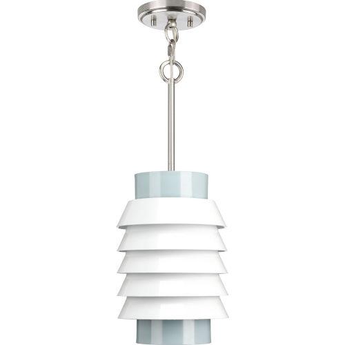 Onshore Brushed Nickel One-Light Mini Pendant