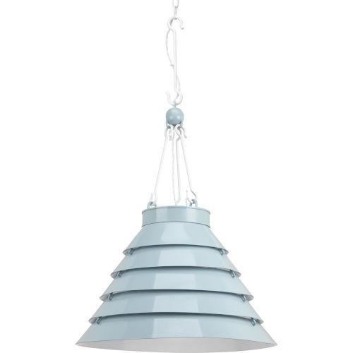 Surfrider Matte Blue Enamel Three-Light Pendant