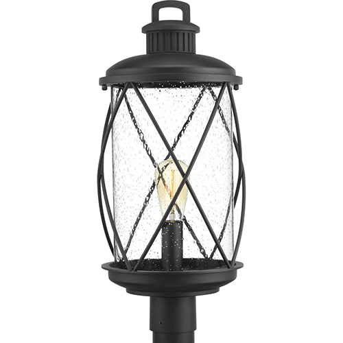 Progress Lighting P540029-031: Hollingsworth Black One-Light Outdoor Post Lantern