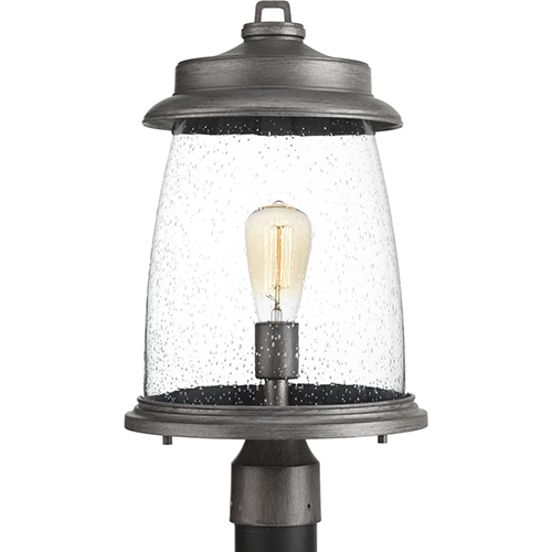 P540030-103: Conover Antique Pewter One-Light Outdoor Post Lantern