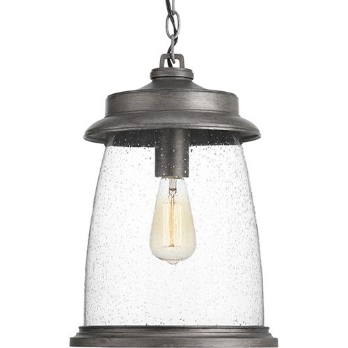 Progress Lighting P550030-103: Conover Antique Pewter One-Light Outdoor Pendant