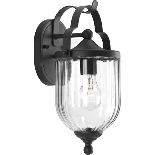 Progress Lighting P560062-031: McPherson Black One-Light Outdoor Wall Sconce