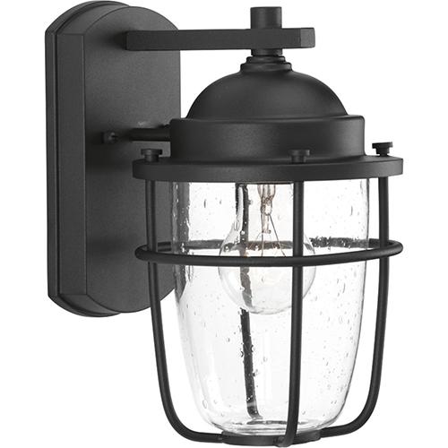 Progress Lighting P560065-031: Holcombe Black One-Light Outdoor Wall Sconce