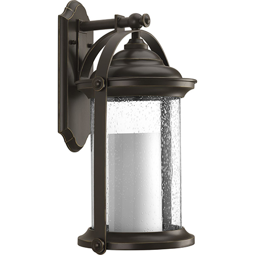 Progress Lighting P560070-020-30: Whitacre Antique Bronze Energy Star LED Outdoor Wall Sconce