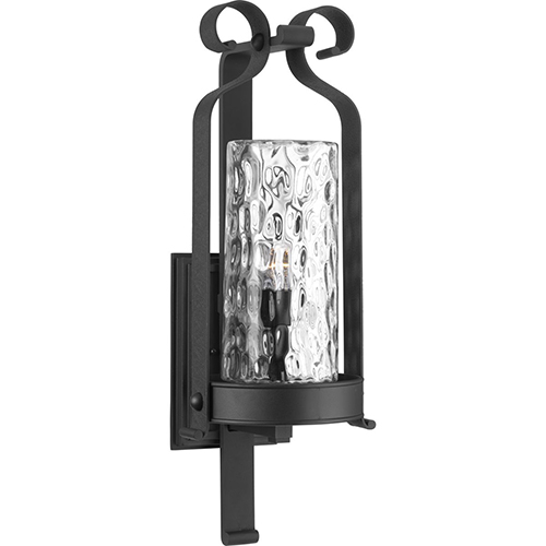 Mediterranean wall mount outdoor lighting bellacor progress lighting p560076 031 hermosa black one light outdoor wall sconce aloadofball Images