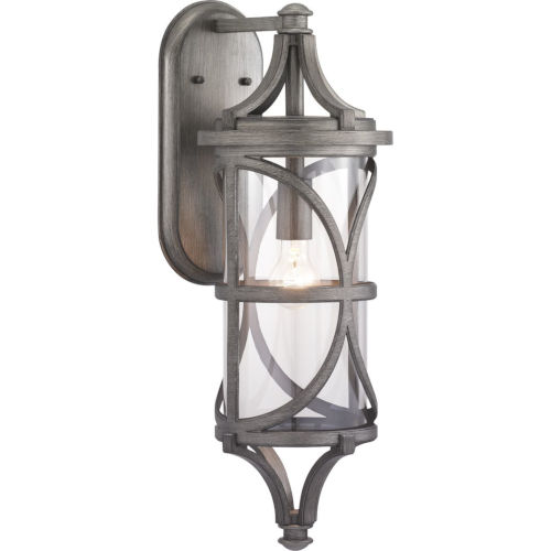 Morrison Antique Pewter One-Light Outdoor Wall Lantern With Transparent Glass