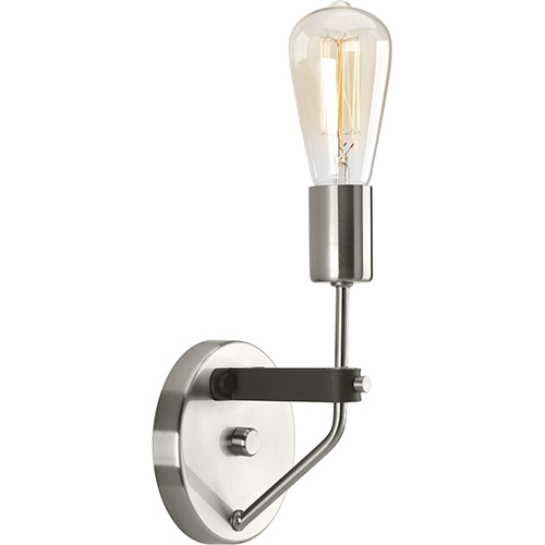 P710043-009: Hangar Brushed Nickel and Graphite One-Light Wall Sconce