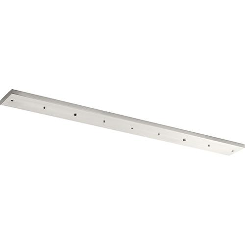 Progress Lighting P860004-009: Brushed Nickel Linear Five-Light Pendant Canopy