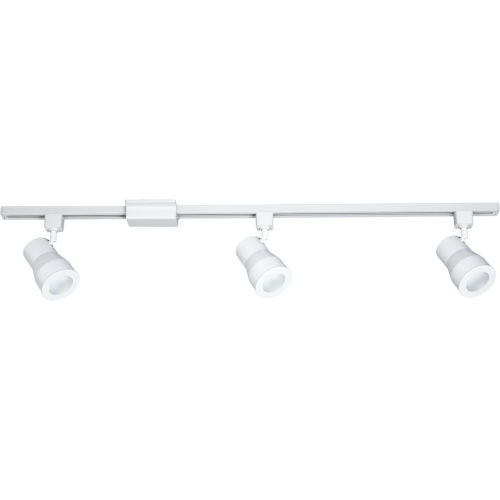 Satin White 3-Inch LED Three-Light Track Kit