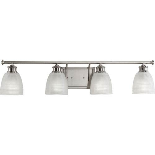 P2118-09 Lucky Brushed Nickel 34-Inch Four-Light Bath Sconce