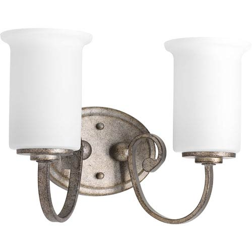 P2133-144 Stroll Pebbles Two-Light 14-Inch Bath Sconce
