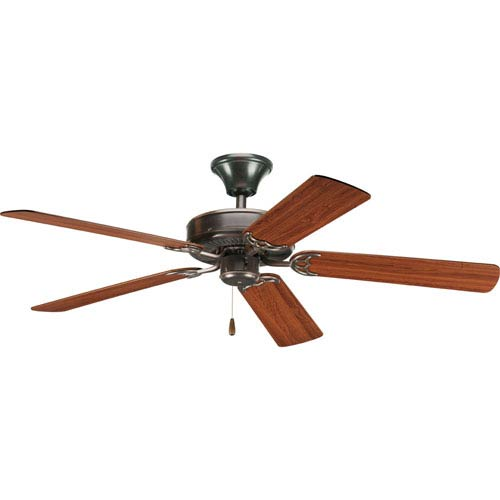 Progress Lighting AirPro Antique Bronze 13.5-Inch Ceiling Fans with 5 52-Inch Blades