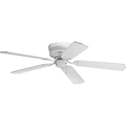 Progress Lighting AirPro Hugger White 8.12-Inch Ceiling Fans