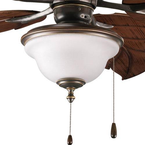 Progress Lighting Ashmore Antique Bronze Two-Light Light Kit for Ceiling Fan