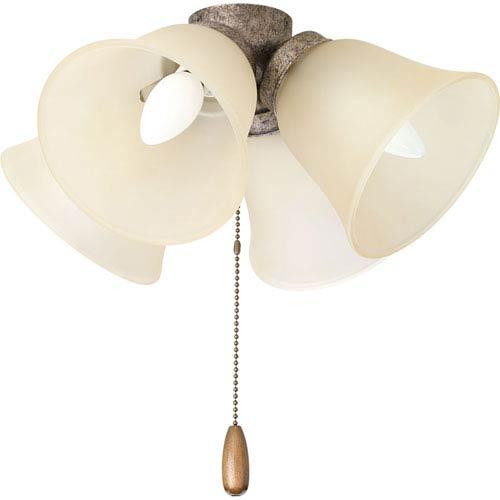P2643-144 AirPro Pebbles Four-Light Ceiling Fan Light Kit