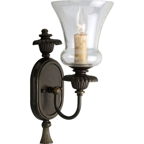 P2951-77:  Fiorentino Forged Bronze One-Light Sconce