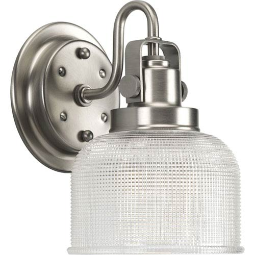 Progress Lighting P2989-81:  Archie Antique Nickel One-Light Bath Fixture