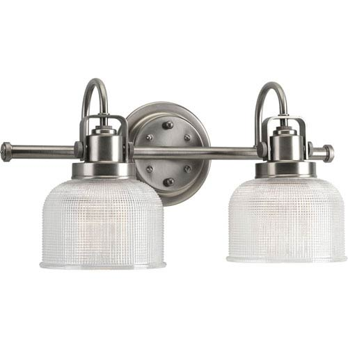 P2991-81:  Archie Antique Nickel Two-Light Bath Fixture