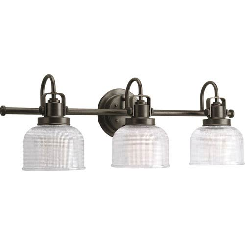 Progress Lighting P2992-74:  Archie Venetian Bronze Three-Light Bath Fixture