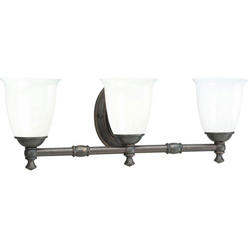P3029-74:  Venetian Bronze Three-Light Bath Fixture