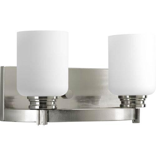 P3057-09:  Orbit Brushed Nickel Two-Light Bath Fixture