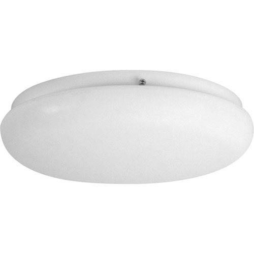 Progress Lighting Round Clouds White Three-Light Flush Mount with White Acrylic Diffuser