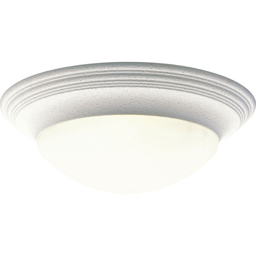 P3697-30:  White Three-Light Ceiling Light