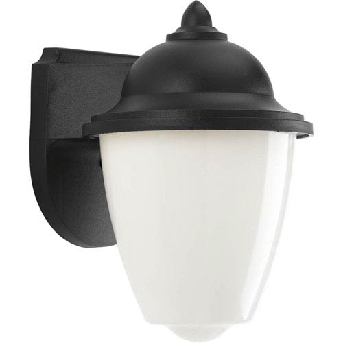 Progress Lighting Black Four-Light Outdoor Wall Lantern