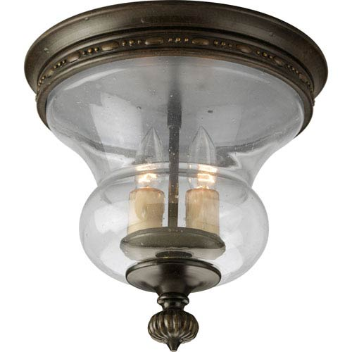 P3815-77:  Fiorentino Forged Bronze Two-Light Ceiling Light