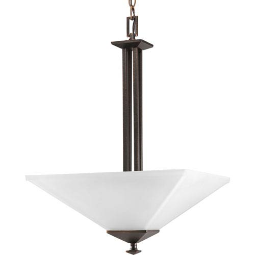 Progress Lighting North Park Venetian Bronze Two-Light Bowl Pendant with Etched Glass