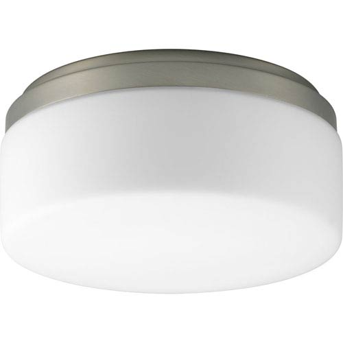 Progress Lighting Maier Brushed Nickel Fluorescent One-Light Flush Mount with Opal Etched Acrylic Bowl