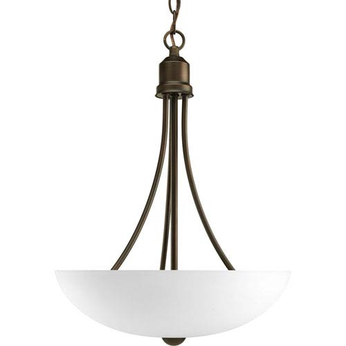 Progress Lighting Gather Antique Bronze Two-Light CFL Bowl Pendant with Etched Glass Bowl