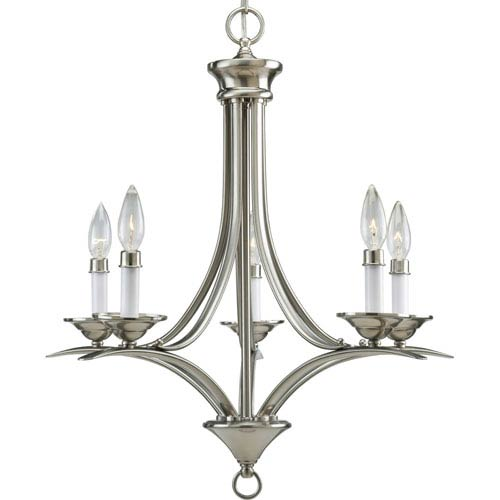 P4327-09:  Trinity Brushed Nickel Five-Light Chandelier