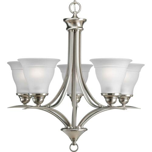 P4328-09:  Trinity Brushed Nickel Five-Light Chandelier
