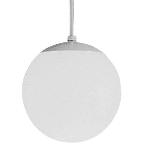 Progress Lighting Opal Globes White 48-Inch One-Light Pendant with White Opal Glass