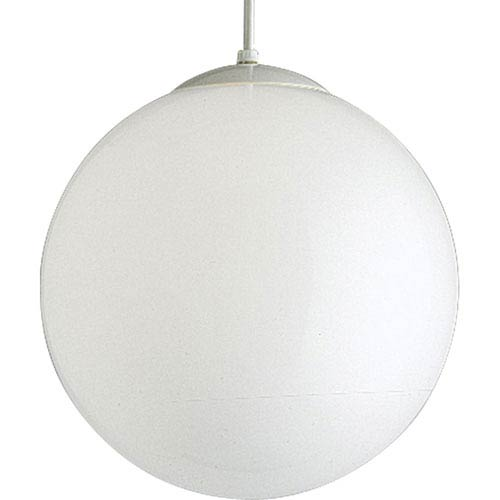 Opal Globes White 54-Inch One-Light Pendant with White Opal Glass