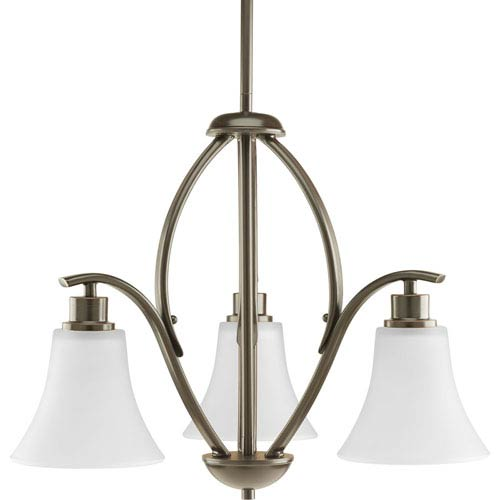 Progress Lighting P4489-20W Joy Antique Bronze Three-Light Chandelier
