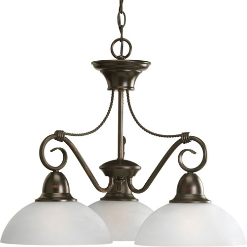 P4579-20:  Pavilion Antique Bronze Three-Light Chandelier