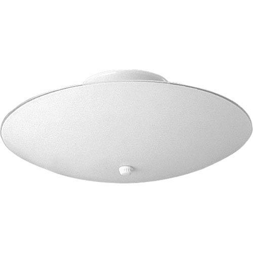 Progress Lighting Round Glass White Two-Light Flush Mount with White Glass Shade