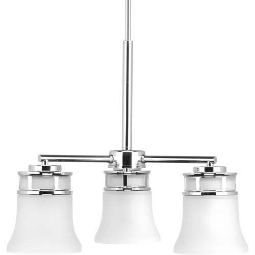 P4612-15 Cascadia Polished Chrome Three-Light Chandelier