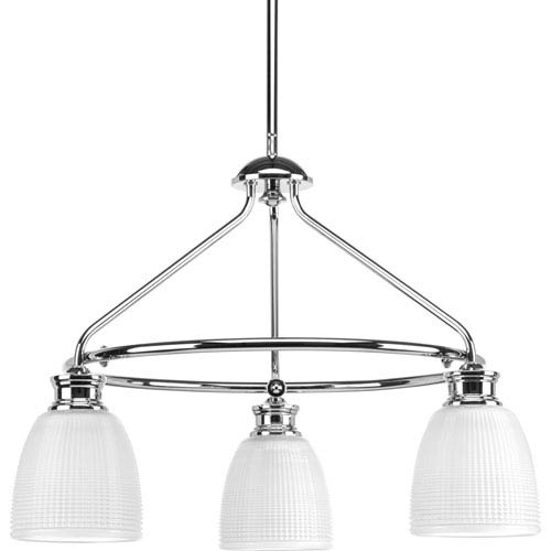 P4721-15 Lucky Polished Chrome Three-Light Chandelier