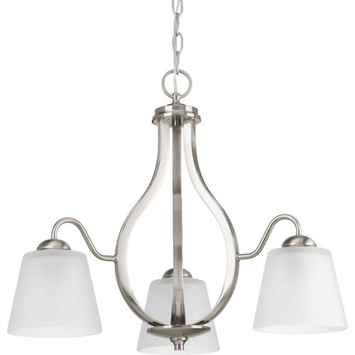 P4745-09 Arden Brushed Nickel Three-Light Chandelier
