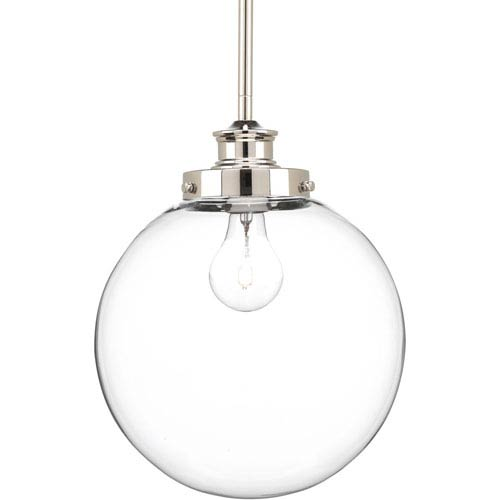 P5070-104 Penn Polished Nickel 10-Inch One-Light Globe Pendant