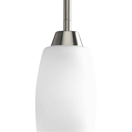 Wisten Brushed Nickel One-Light CFL Mini Pendant with Etched Glass