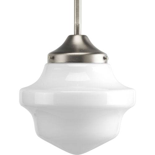 P5196-09:  Brushed Nickel One-Light Mini School House Pendant