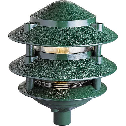 Pagoda Green One-Light Landscape with Clear Glass