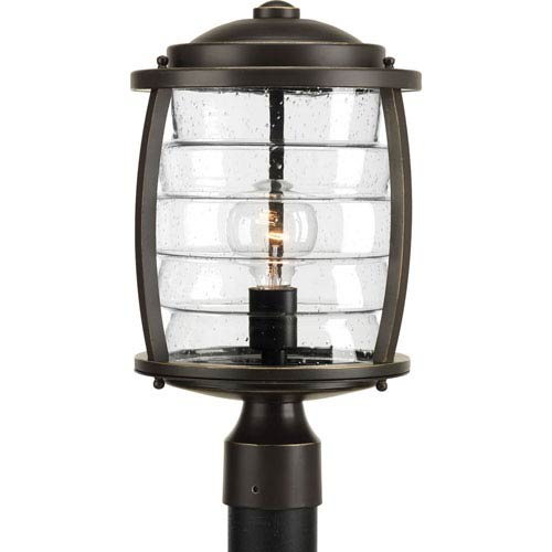 P5421-108 Signal Bay Oil Rubbed Bronze One-Light Outdoor Post Mount