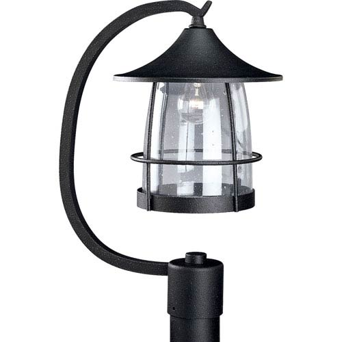 P5463-71:  Prairie Gilded Iron One-Light Outdoor Post Mounted Lantern