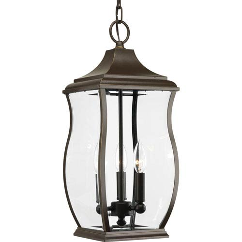 P5504-108 Township Oil Rubbed Bronze Three-Light Outdoor Pendant