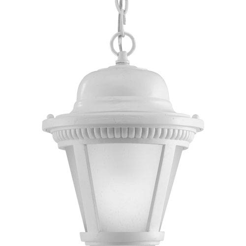 P5530-3030K9 Westport White 9-Inch One-Light Energy Star LED Outdoor Pendant
